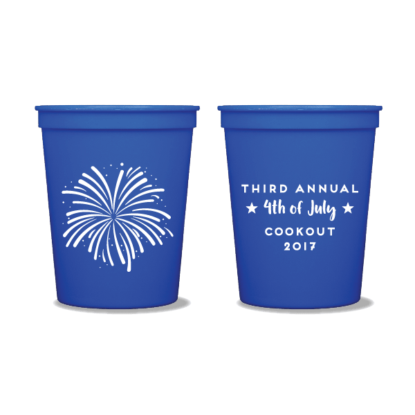 Fireworks Party Cups
