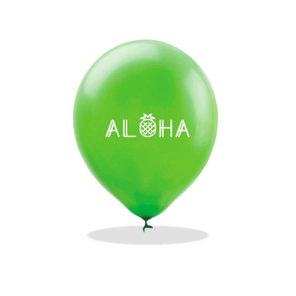 Aloha Pineapple Latex Balloons