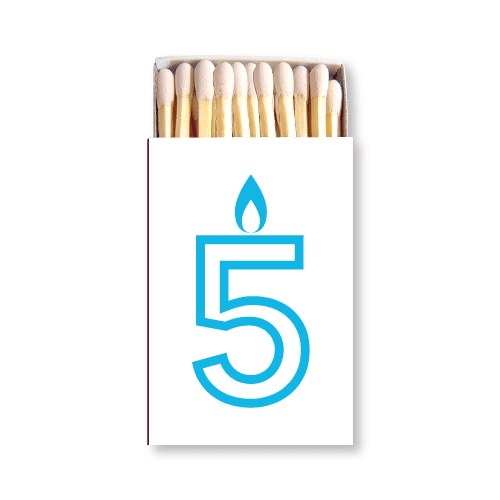 Birthday Candles Matchboxes
