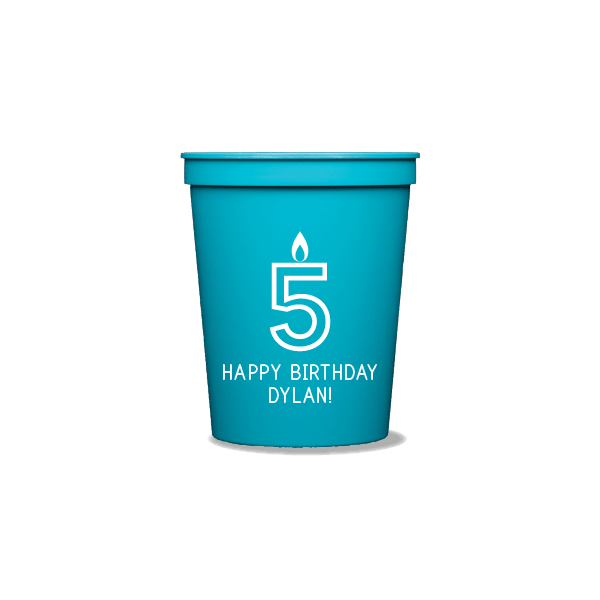 Birthday Candles Party Cups