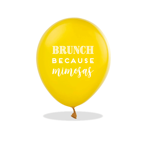 Brunch Because Mimosas Latex Balloons