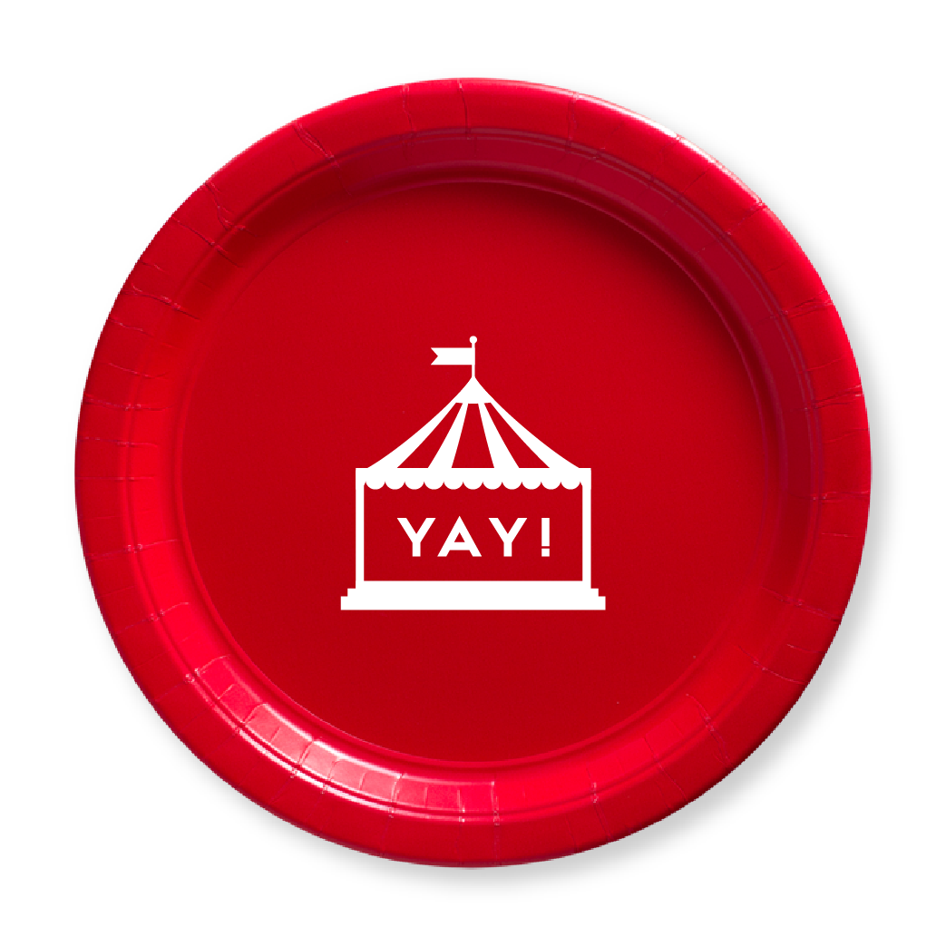 Circus Tent Paper Plates