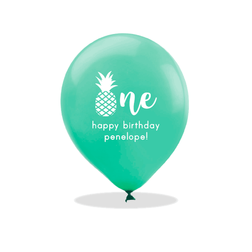 Pineapple First Birthday Latex Balloons