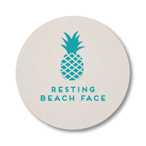 Resting Beach Face Coasters