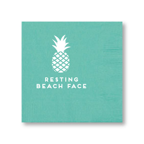 Resting Beach Face Cocktail Napkins