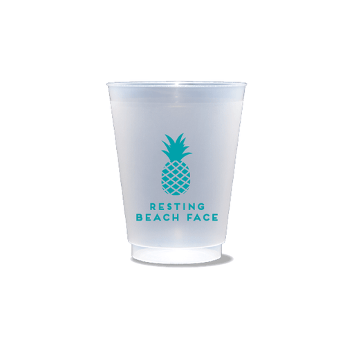 Resting Beach Face Frosted Cups