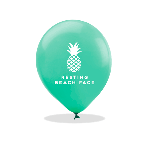 Resting Beach Face Latex Balloons