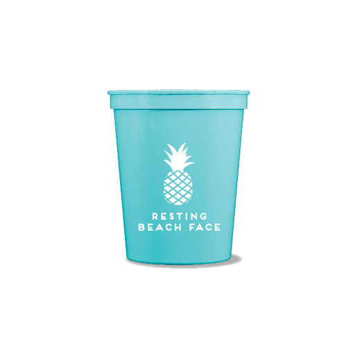 Resting Beach Face Party Cups