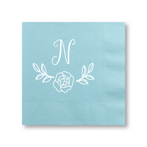 Rose Garden Monogram Cocktail Napkins