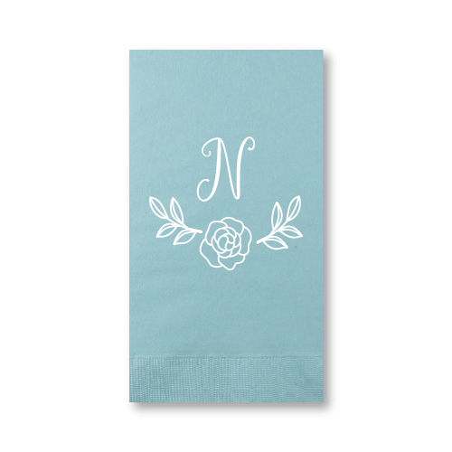 Rose Garden Monogram Guest Towels