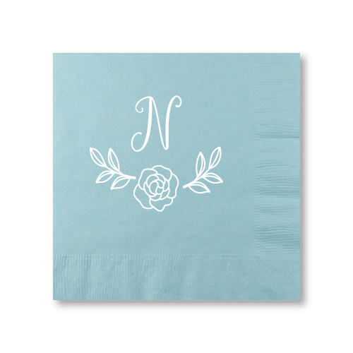 Rose Garden Monogram Luncheon Napkins