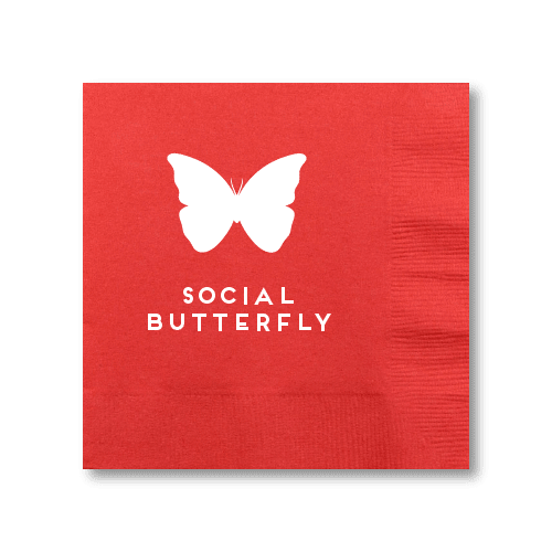 Social Butterfly Cocktail Napkins