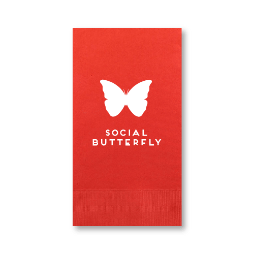 Social Butterfly Guest Towels