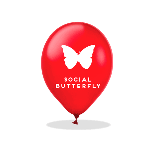 Social Butterfly Latex Balloons
