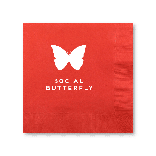 Social Butterfly Luncheon Napkins