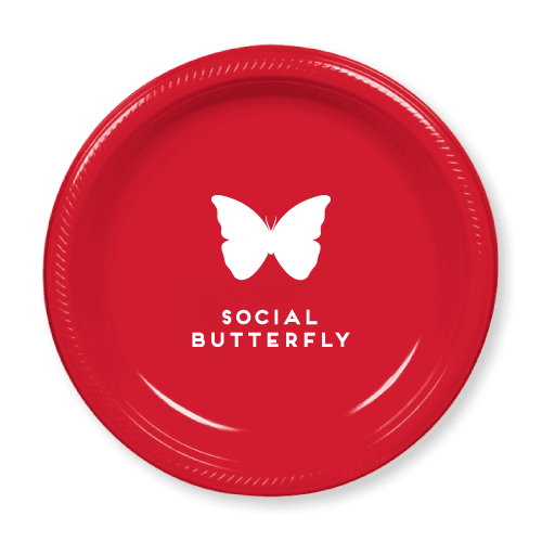 Social Butterfly Plastic Plates