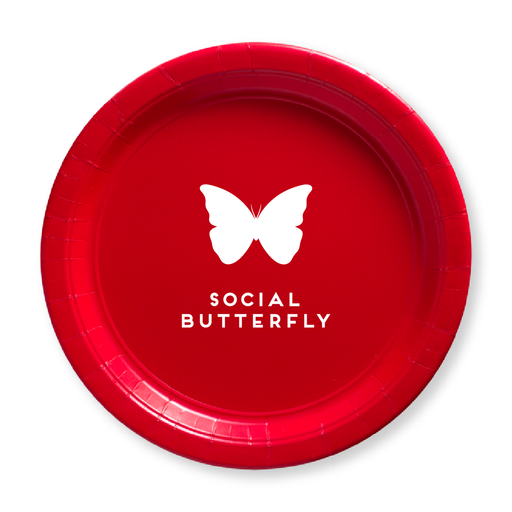 Social Butterfly Paper Plates