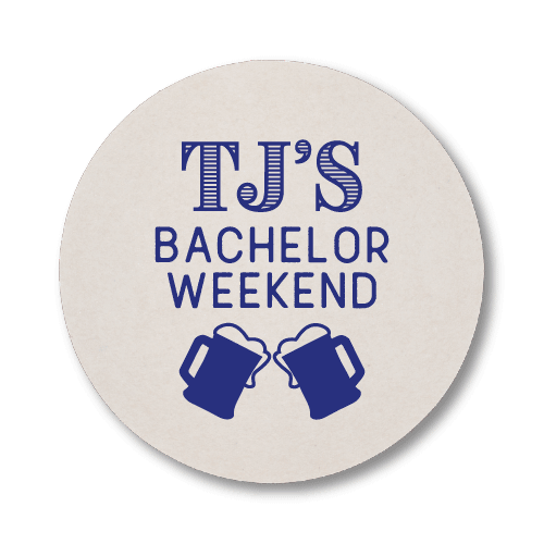 Bachelor Weekend Steins Coasters