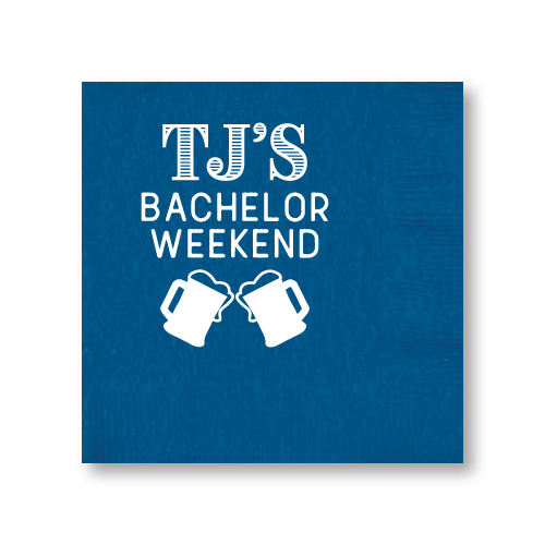 Bachelor Weekend Steins Cocktail Napkins