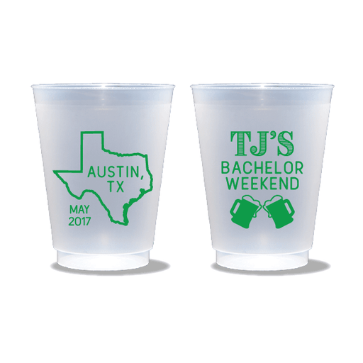 Bachelor Weekend Steins Frosted Cups
