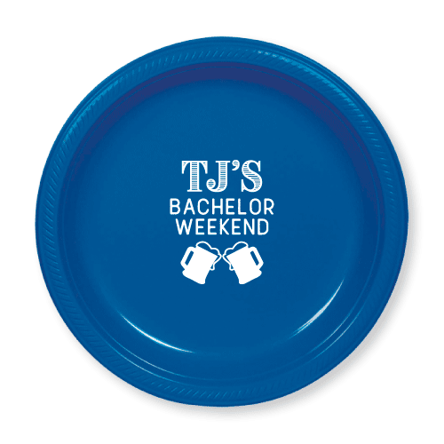 Bachelor Weekend Steins Plastic Plates