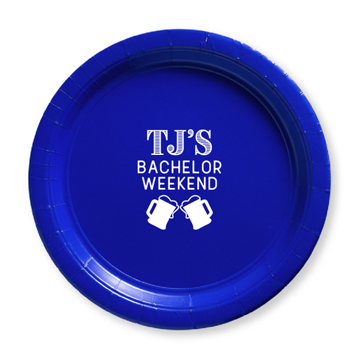 Bachelor Weekend Steins Paper Plates