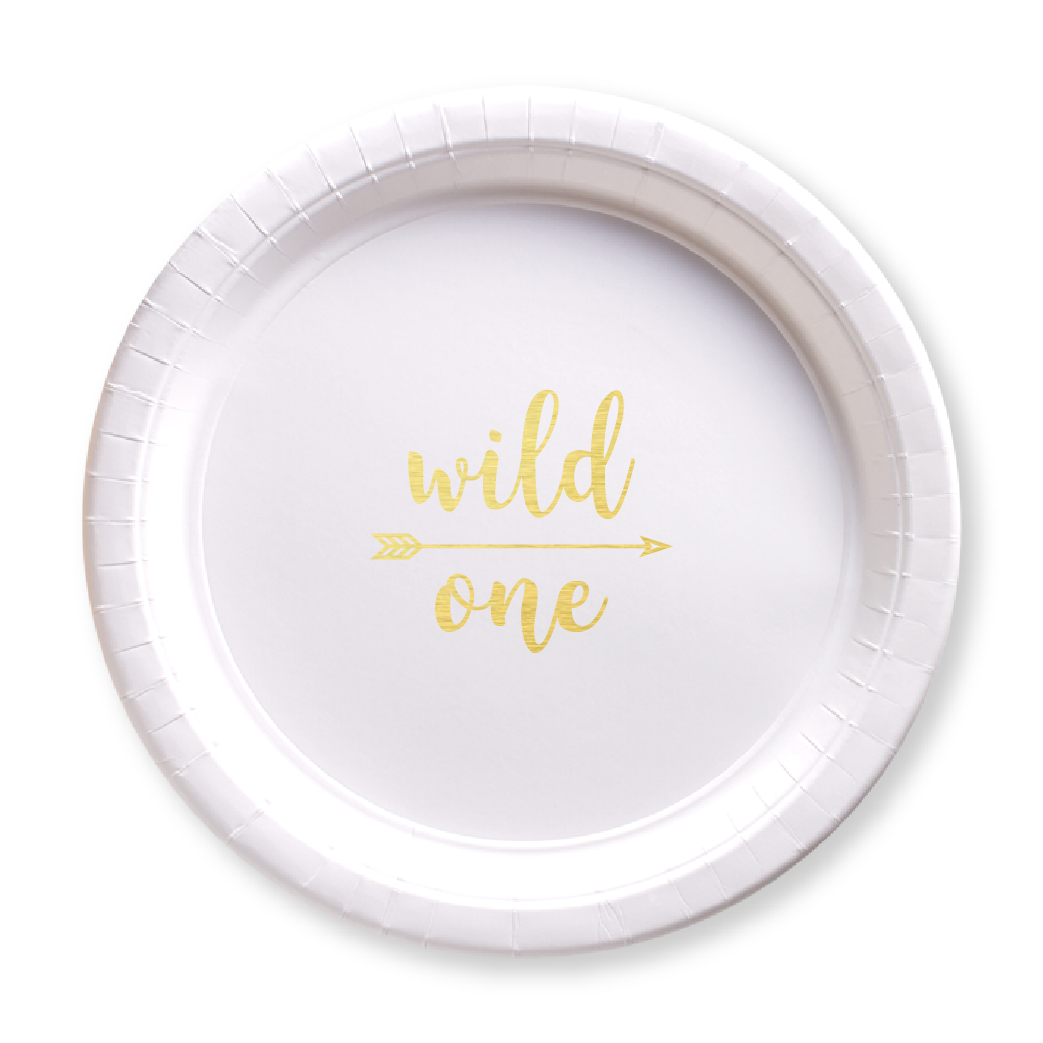 Wild One Paper Plates