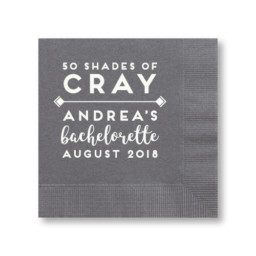 50 Shades of Cray Cocktail Napkins