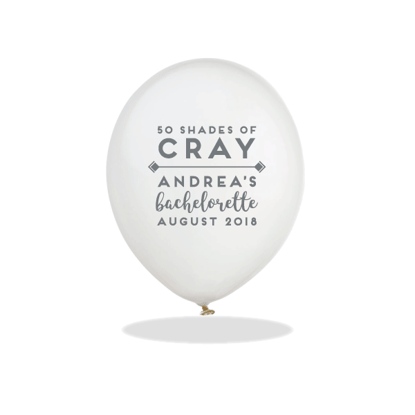 50 Shades of Cray Latex Balloons