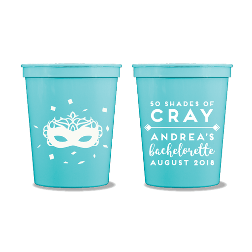 50 Shades of Cray Party Cups
