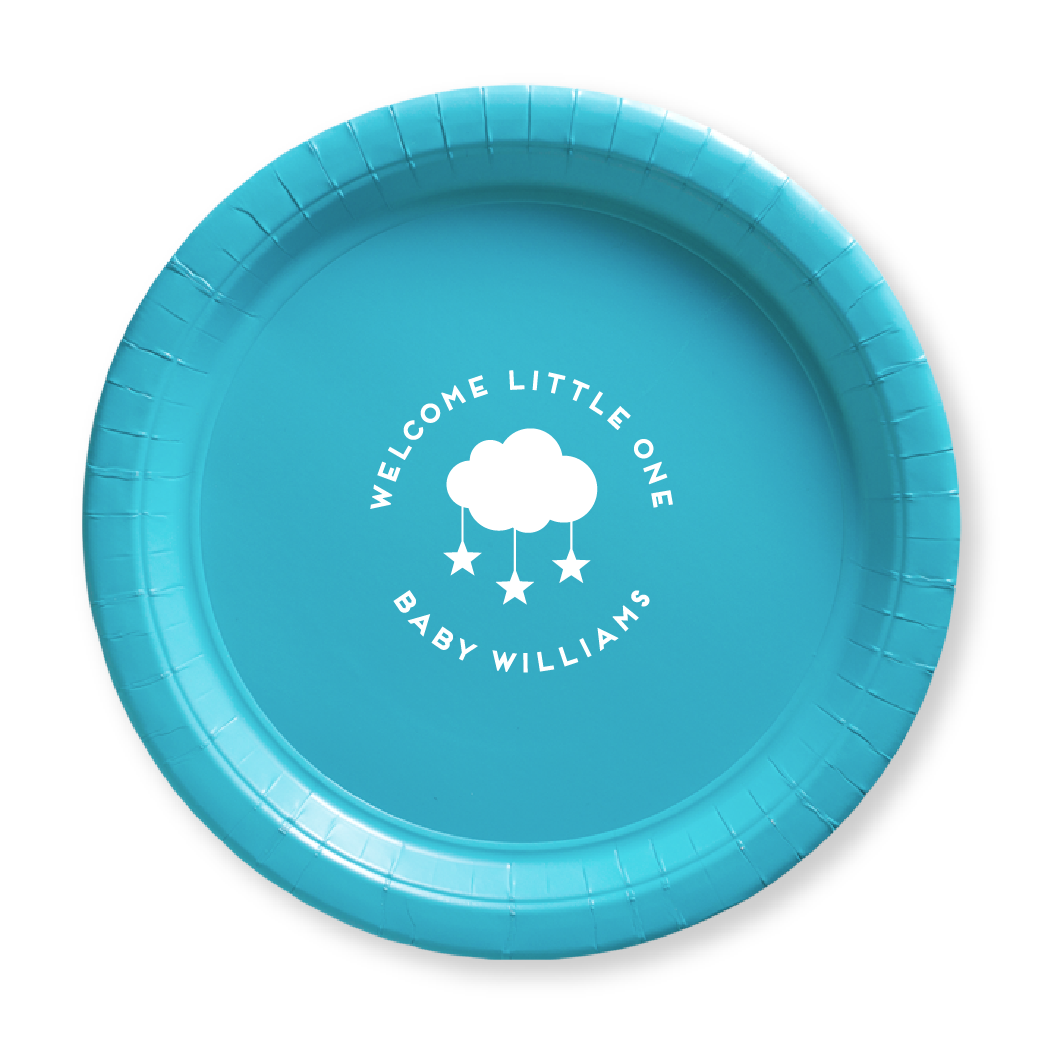 Welcome Little One Paper Plates
