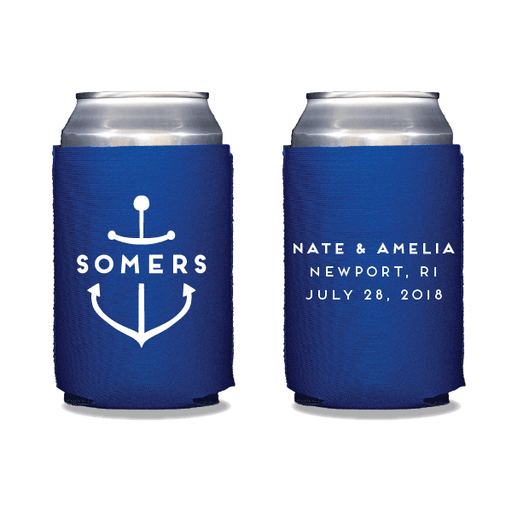 Personalized Anchor Can Coolers