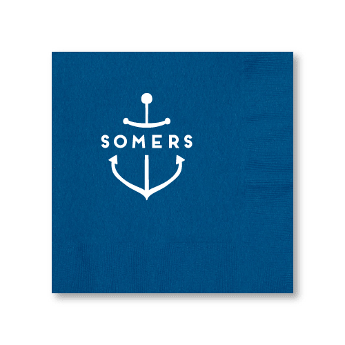 Personalized Anchor Dinner Napkins
