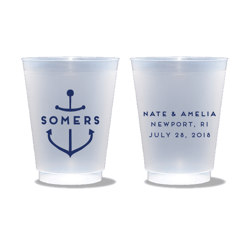 Personalized Anchor Frosted Cups