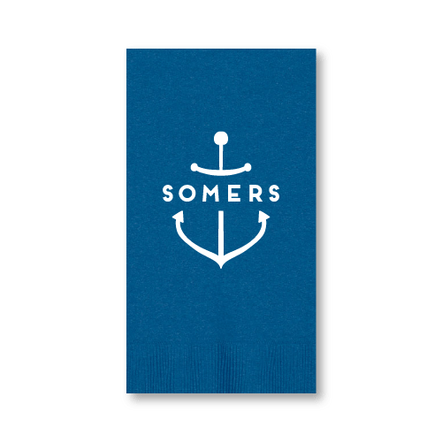 Personalized Anchor Guest Towels