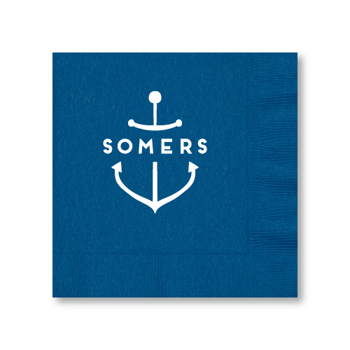 Personalized Anchor Luncheon Napkins
