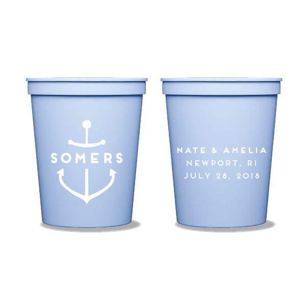 Personalized Anchor Party Cups