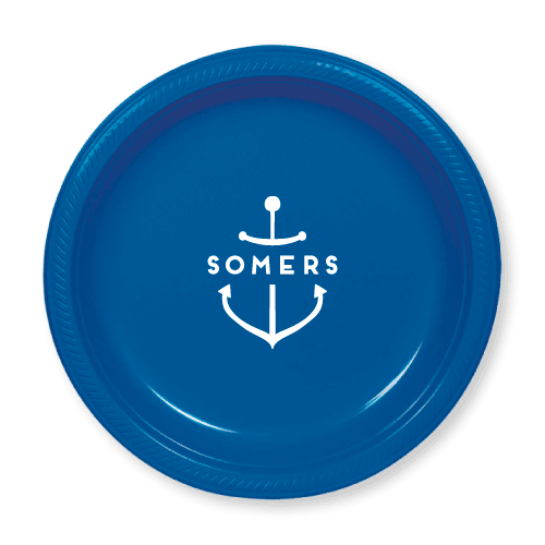 Personalized Anchor Plastic Plates
