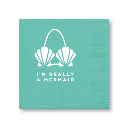 I'm Really A Mermaid Cocktail Napkins