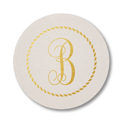Rope Circle Monogram Coasters