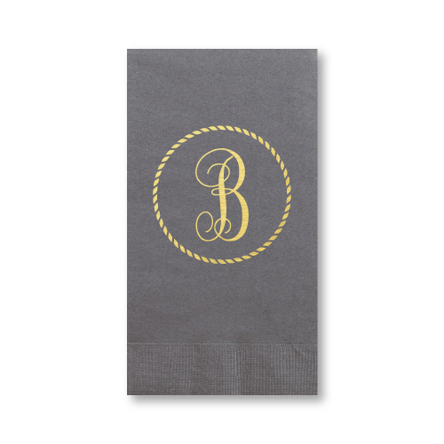 Rope Circle Monogram Guest Towels
