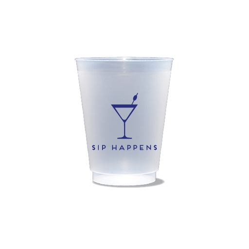 Sip Happens Frosted Cups