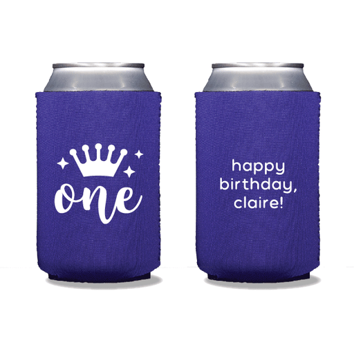 First Birthday Princess Can Coolers