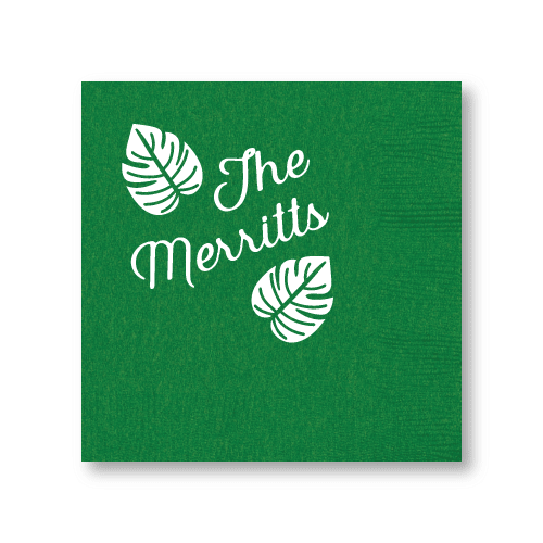 Tropical Leaves Cocktail Napkins