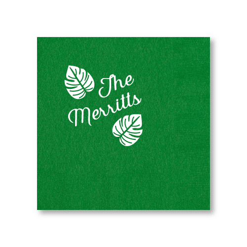 Tropical Leaves Dinner Napkins