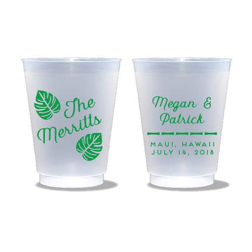 Tropical Leaves Frosted Cups