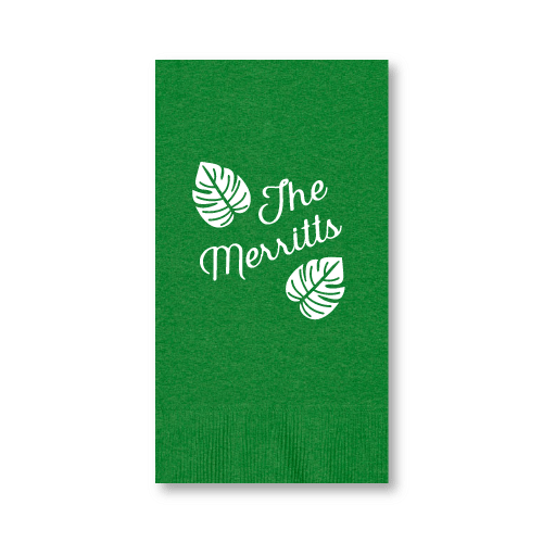 Tropical Leaves Guest Towels