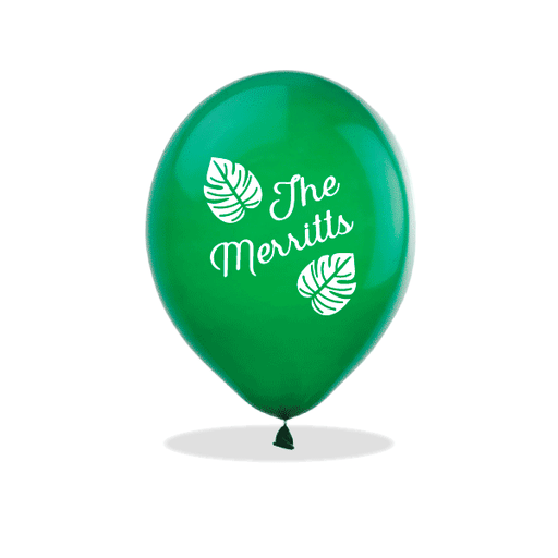 Tropical Leaves Latex Balloons