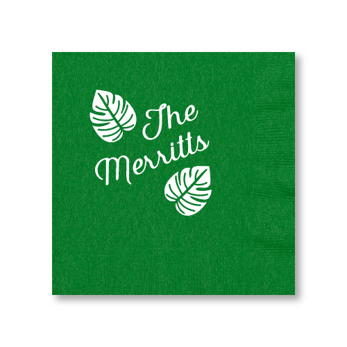 Tropical Leaves Luncheon Napkins