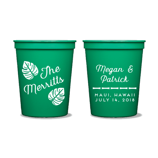 Tropical Leaves Party Cups